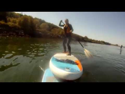 Rescue Using One Paddle Board to Push Another to Shore