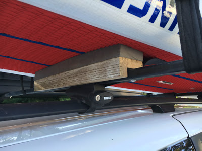 SUP or Kayak Rack Hack for Getting in the back of your Car Easier