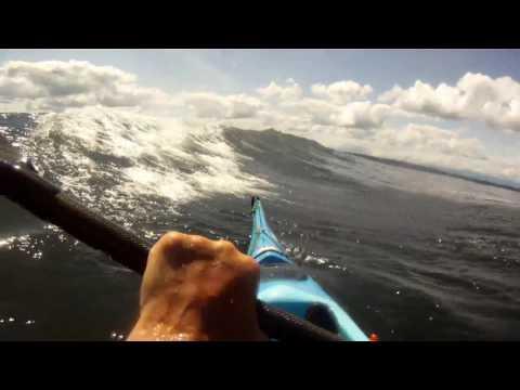 Kayak Surfing Tug Waves in Seattle – June 7, 2017