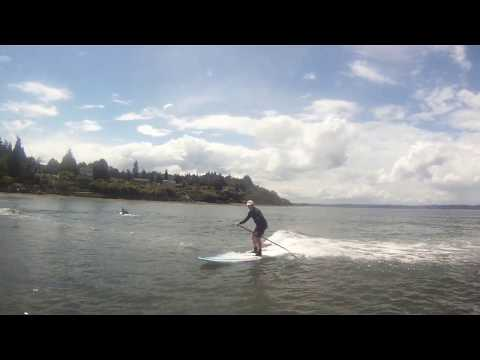 SUP Freighter Surfing in Seattle – 6/9/17