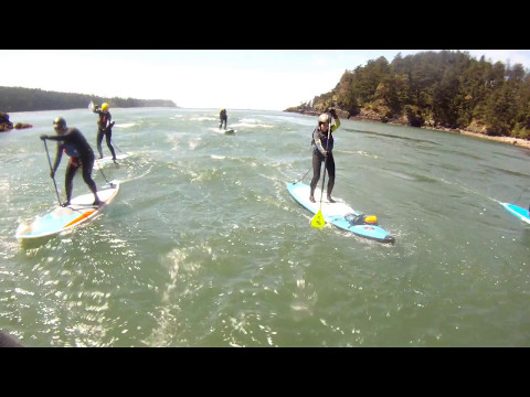 Surfing Waves in the Tidal Rapids of Deception Pass