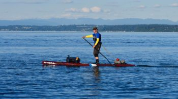 Salmon Bay Paddle instructor Harry O out Trippin'