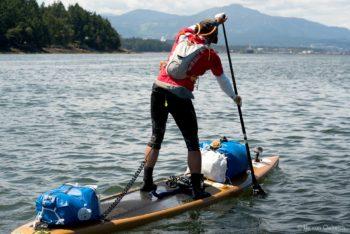 Karl Kruger on his 17' Bark for the 2017 Race to Alaska